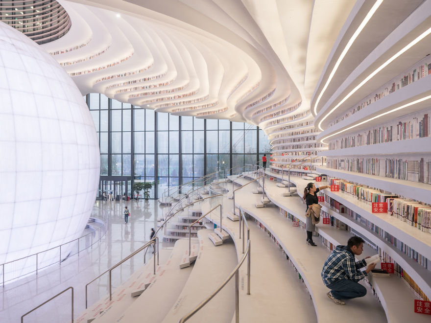 China opens library with unique interior1 - Stonehard