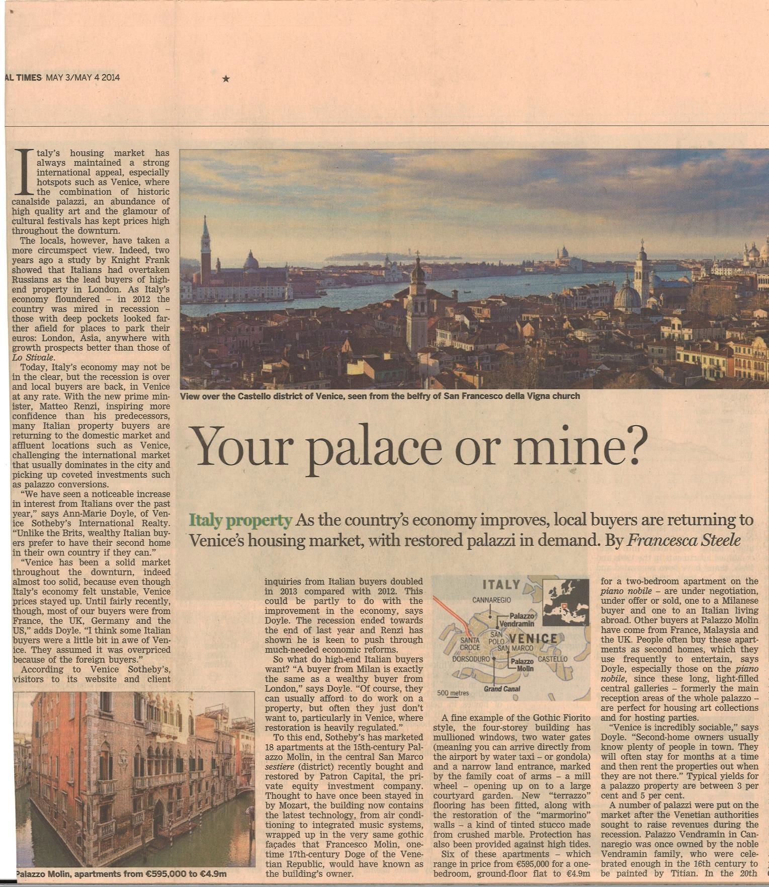 Pdf: Restored Palazzo in Venice as a second home for local and international property buyers - Stonehard