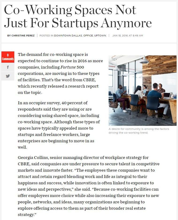 Pdf: Companies and landlords are interested in co-working spaces - Stonehard