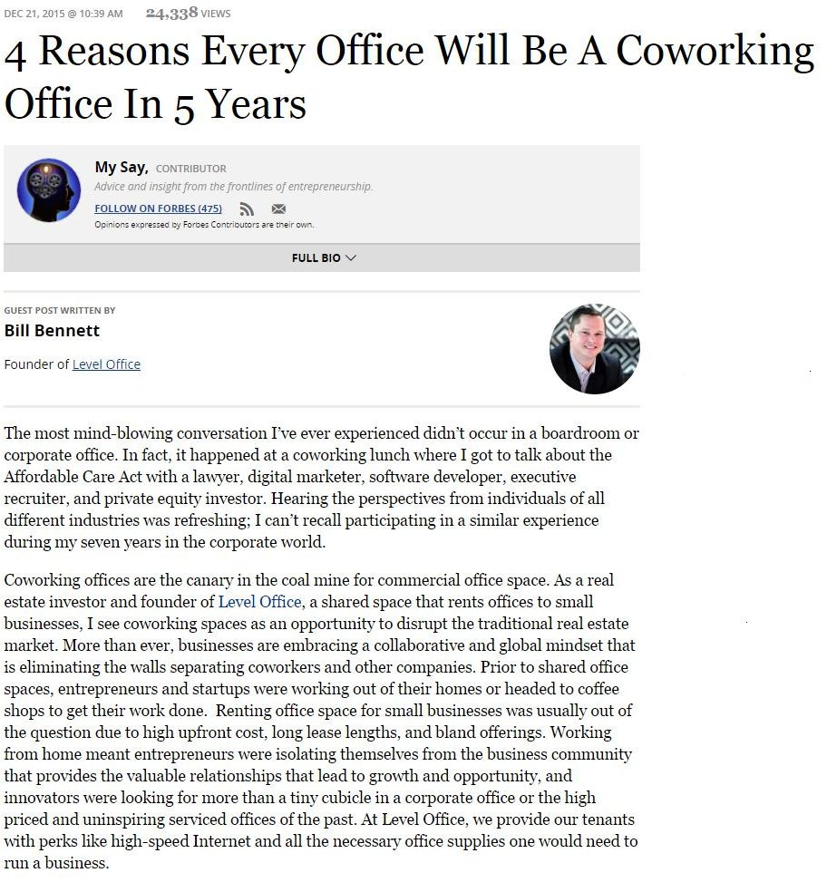 Pdf: 4 reasons every office will be a coworking office in 5 years - Stonehard