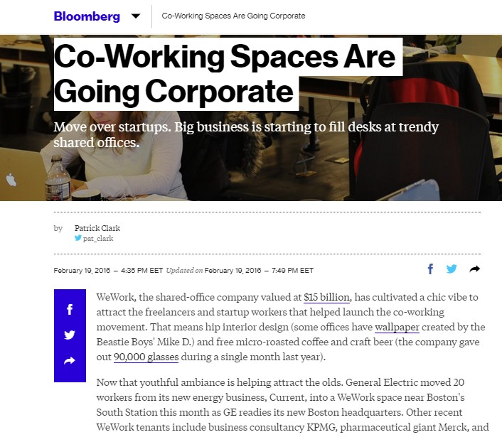 Pdf: Co-working spaces are going corporate - Stonehard