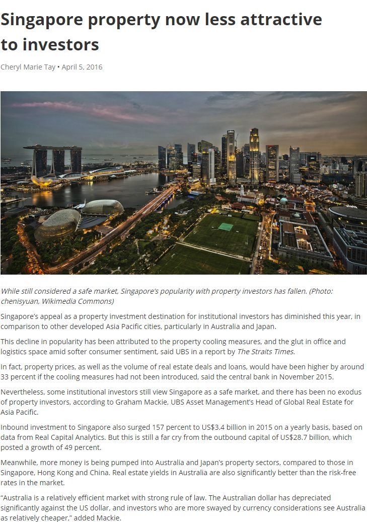 Pdf: Singapore property now less attractive to investors - Stonehard