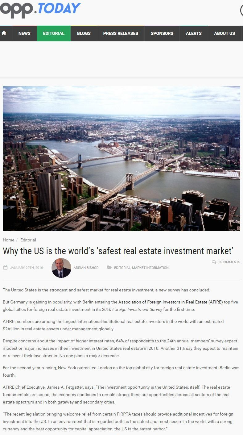 Pdf: Why the US is the world's safest real estate investment market - Stonehard
