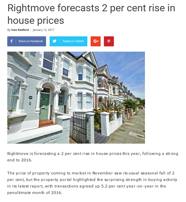 Pdf: Rightmove forecasts 2 per cent rise in house prices - Stonehard
