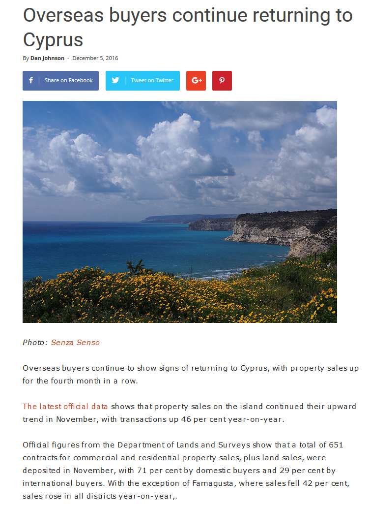 Pdf: Overseas buyers return to Cyprus - Stonehard