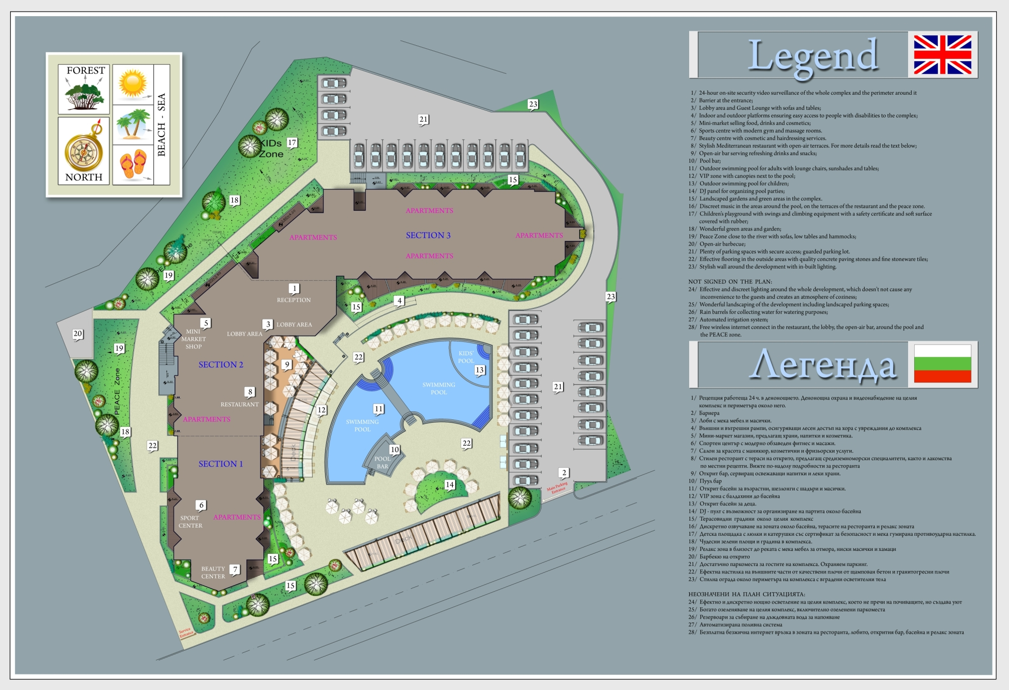 Master Plan: Turn-key ready apartments in Emberli complex, just 3 min. walk from the beach