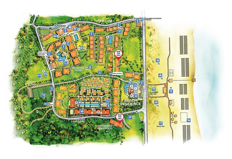 Master Plan: Green Life Beach Resort Town Houses