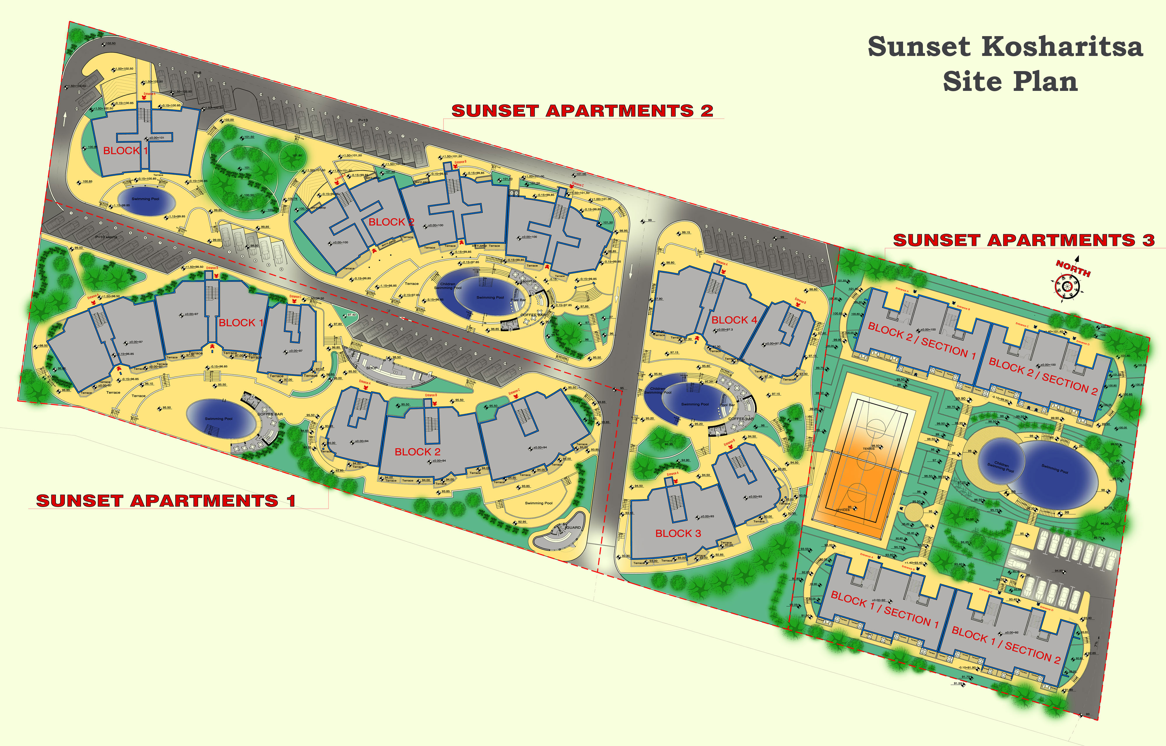 Master Plan: Apartments for sale in
