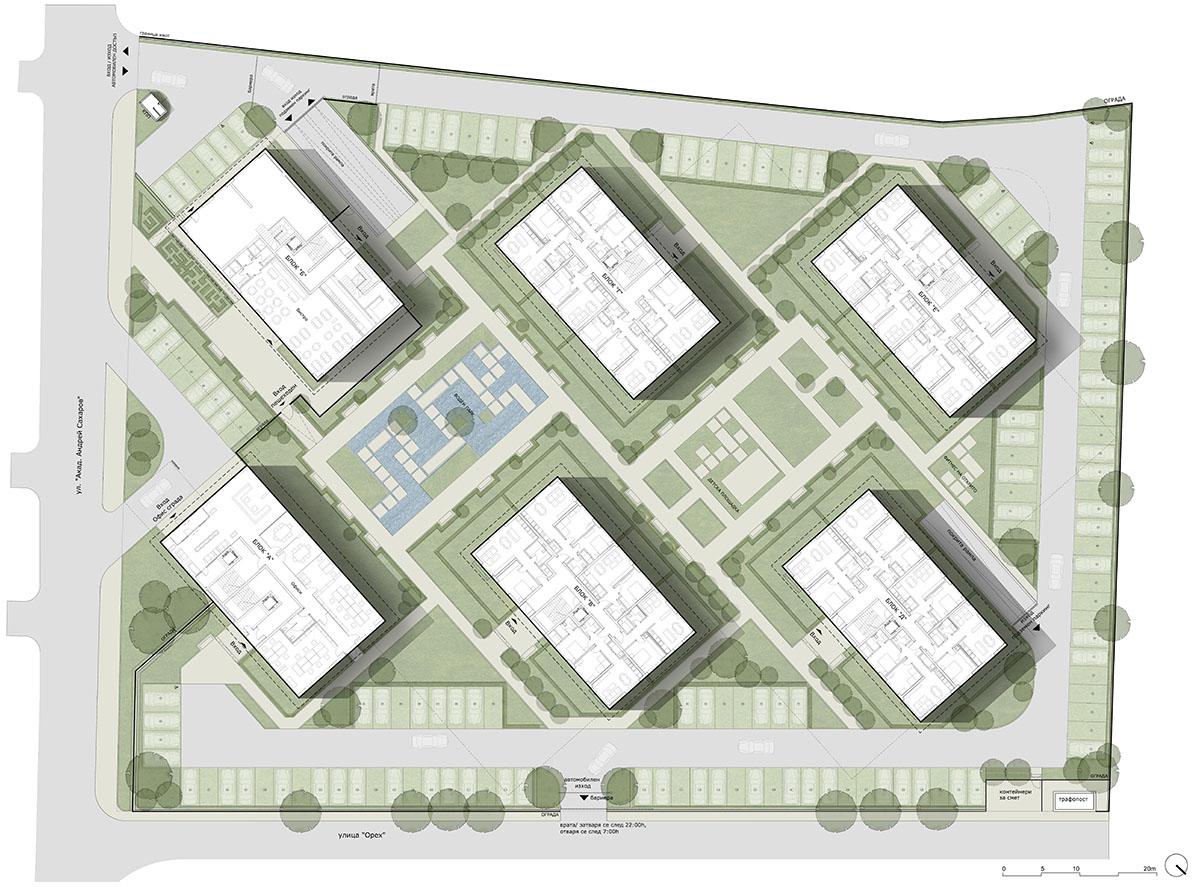 Master Plan: Ultra-modern residential complex near Grand Mall Varna
