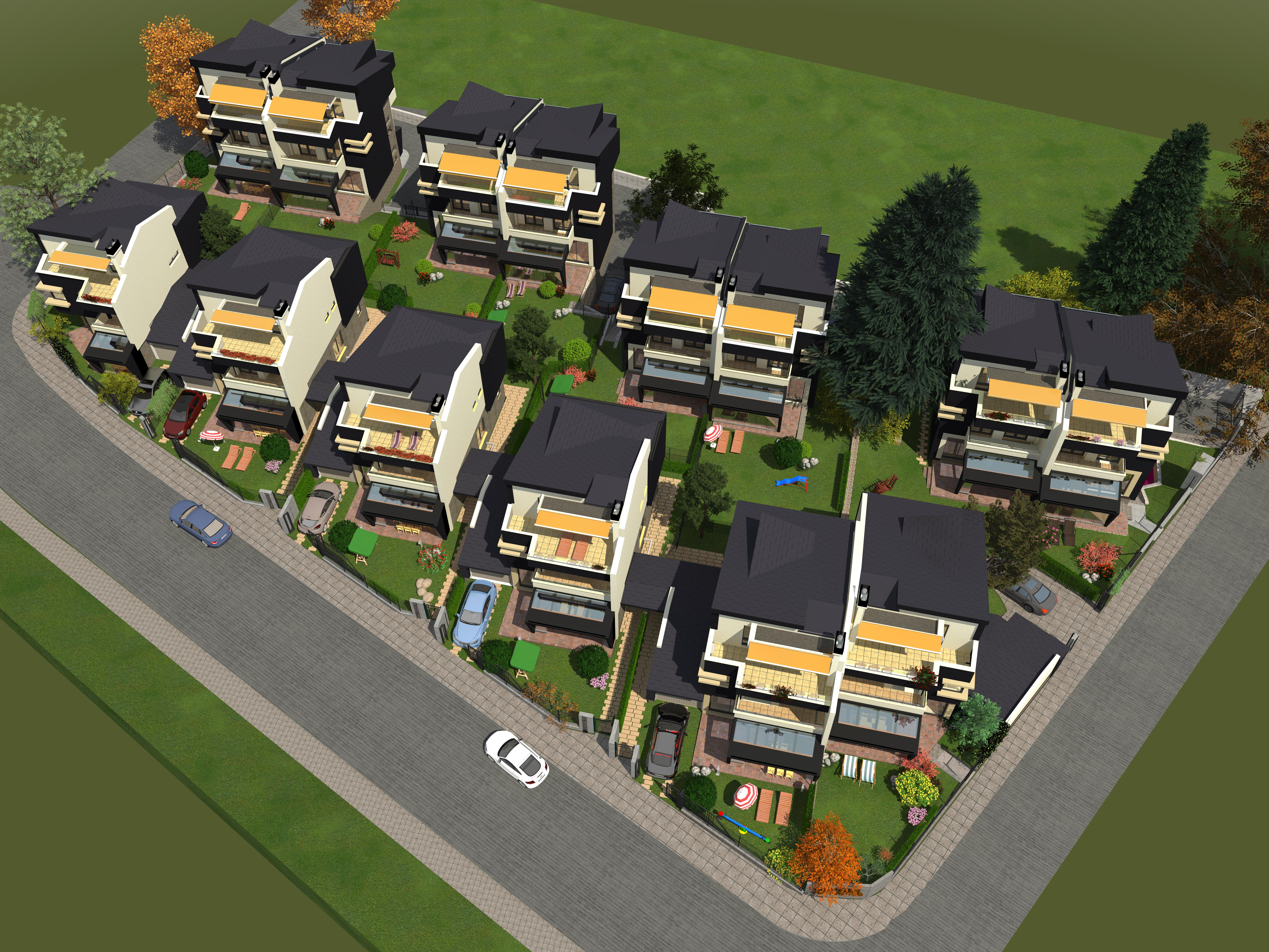 Master Plan: New-build houses in Sofia's Boyana district
