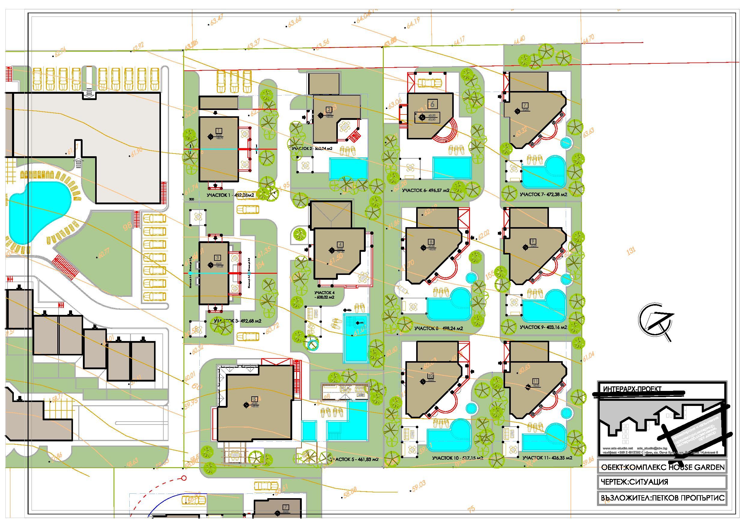 Master Plan: New-built villas near mountain & Black sea coast