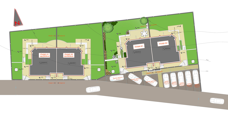 Master Plan: New duplex-villas on Varna lake