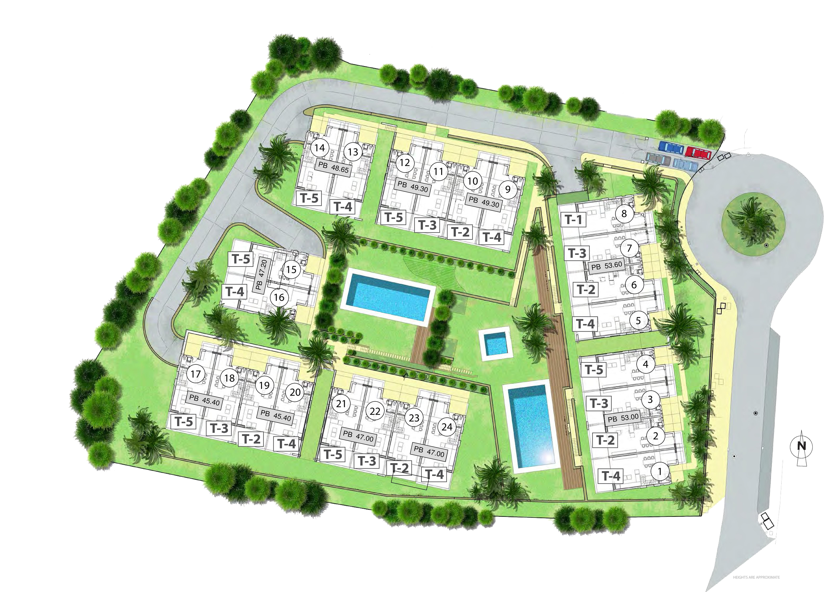 Master Plan: Townhouses with cutting edge design near Marbella