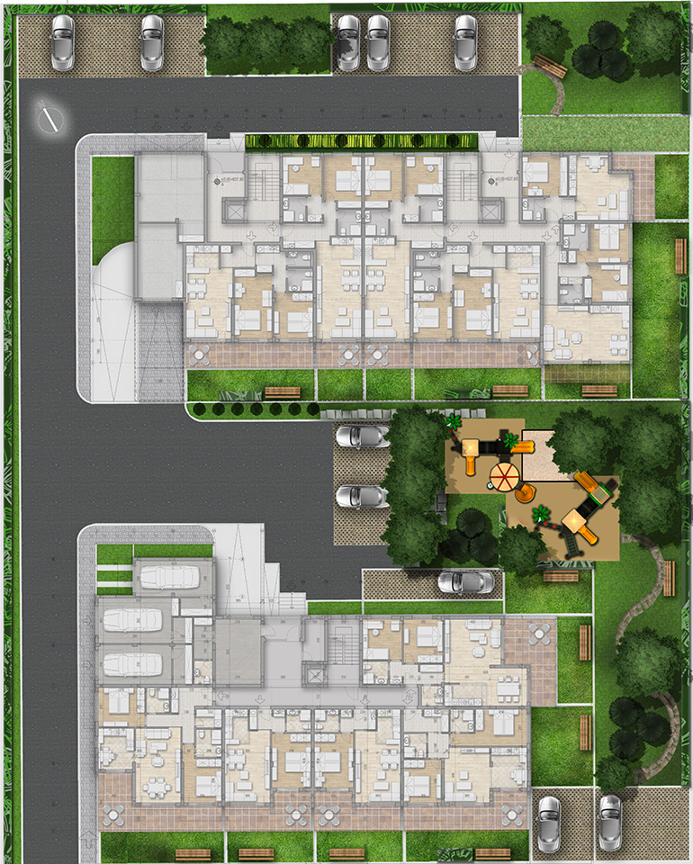Master Plan: Apartments in a gated complex near Students' town