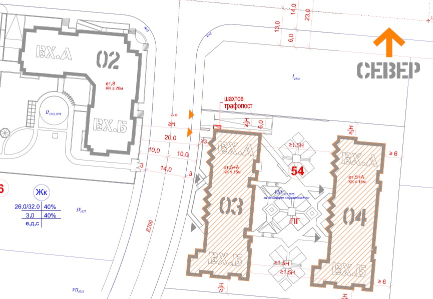 Master Plan: Two residential buildings near the National Sports Academy