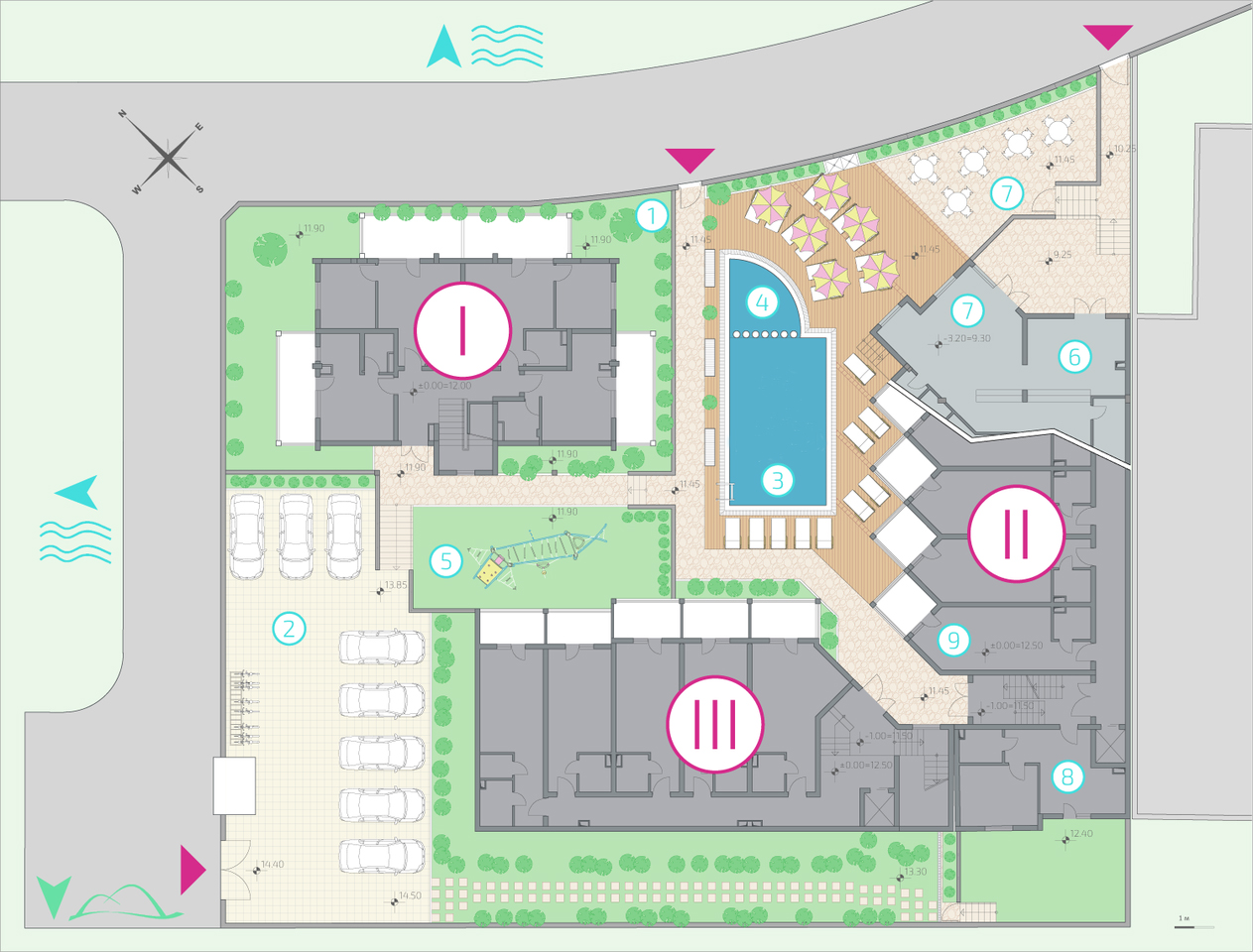 Master Plan: Apartments in a ready year-round complex near two beaches