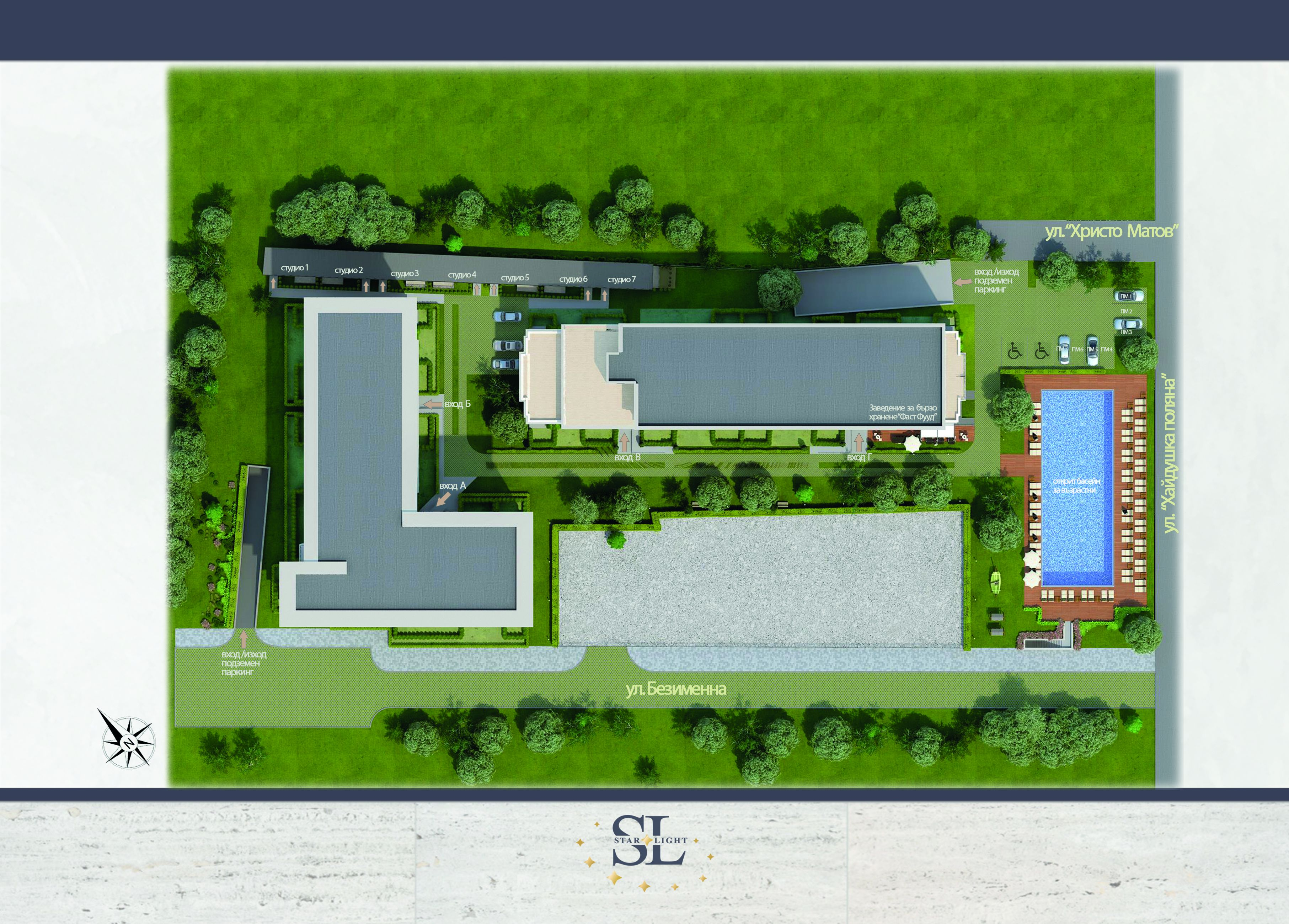 Master Plan: New gated complex with swimming pool near metro station & park