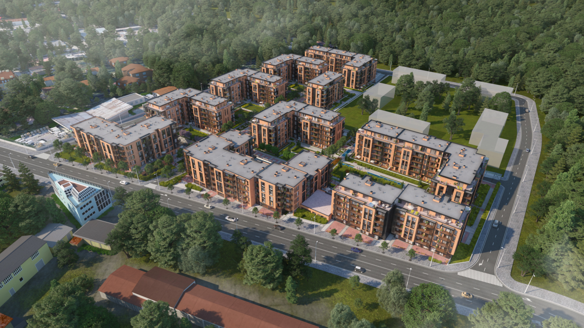 Master Plan: SoHome Residential Park - 10 residential buildings near 2 parks & city center